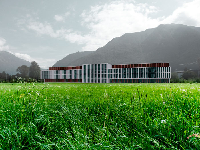 Bellinzona (Switzerland) · Nuova sede dell'Istituto di Ricerca in Biomedicina (in collaboration with Eberli Arch.)